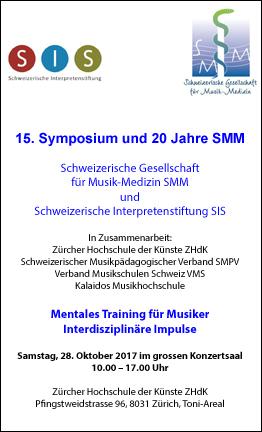 Symposium der Schweizerischen Gesellschaft für Musik-Medizin